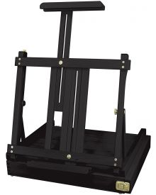Black Sketch Box Table Easel