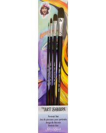 Art Sherpa Portrait Long Handle Brush 4pc Set