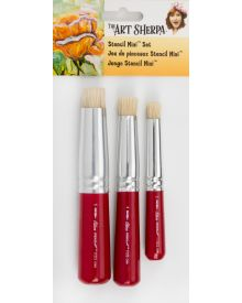 Art Sherpa Stencil Mini Short Handle Brush 3pc Set