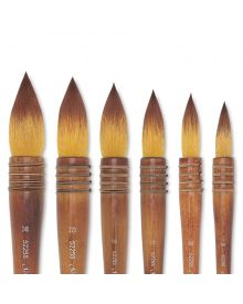 Silver Atelier Series Quill Golden Taklon Brushes