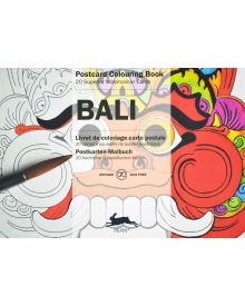 BALI: PEPIN POSTCARD COLOURING BOOK