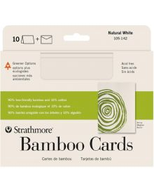 "Bamboo Blank Greeting Cards, 10 Pack - 5"" x 7 """