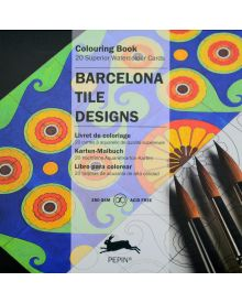 BARCELONA DESIGNS SQUARE TILE Artists' Colouring Paperback Book
