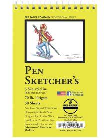 Bee Paper Pen Sketcher's 50 Sheets, 70 lb Pad - 3.5 x 5.5 inch