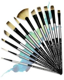 Dynasty Black Silver Brush SH Synthetic Hair Assortment