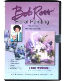 Bob Ross Floral Painting Workshop 3hr-Dvd