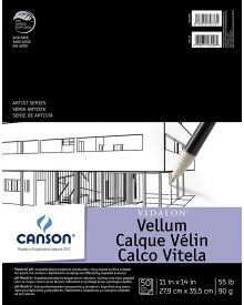 "Canson 11"" x 14"" Artist Series Vidalon Vellum Pad"