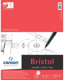 "Canson Bristol Smooth 100 lb (Fold Over) Pad, 9"" x 12"""
