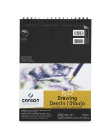 "Canson Pure White Drawing Pad (Top Wire) - 9"" x 12"""