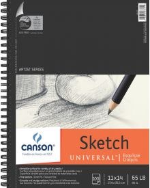 "Canson Universal Pad (Side Wire) 11"" x 14"""