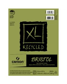 Canson XL-Bristol (Fold Over) 95 lb, 25 sheets, 9 x 12 Inch