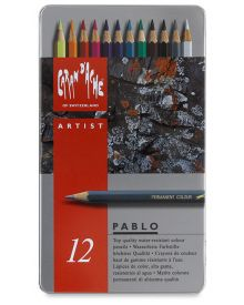 Caran d'Ache Pablo Coloured Pencil Metal Box Set of 12