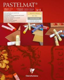 Clairefontaine Pastelmat 12 Sheet Pad No1 24 x 30 cm - 9.5 x 12 Inches