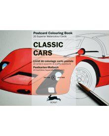 CLASSIC CARS: PEPIN POSTCARD COLOURING BOOK