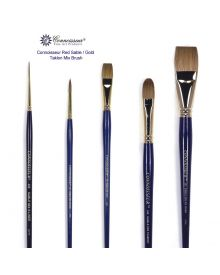 Connoisseur Red Sable/Gold Taklon Mix Brushes