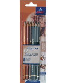 Conté Esquisse Sketching Pencils Set - Pack of 6