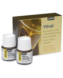 Pébéo Vitrail Stained Glass Effect Glass Paint Crackling Kit