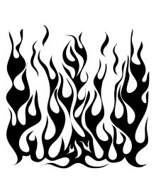 The Crafters Workshop Stencil Flames