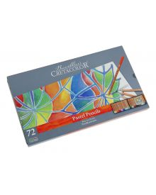 Cretacolor Pencil Fine Art Pastel Pencil Tin Set, 72
