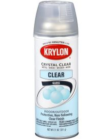 Krylon Crystal Clear Protective Finish Spray Satin (Indoor/Outdoor),11 oz