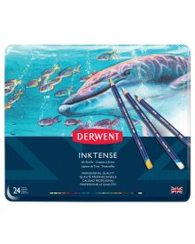 Derwent Inktense Pencils Metal Tin, 24 Colours