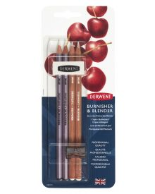 Derwent Blender and Burnisher Pencil Set, Pack of 6