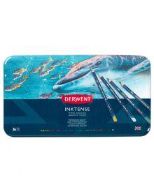 Derwent Inktense Pencils Metal Tin, 36 Colours