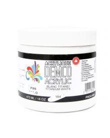 Demco Acrylic Titanium White 16 oz