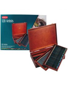 Derwent Artists Coloured Pencils - 120 Wood Box Set