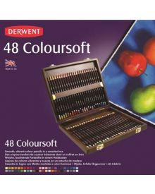 Derwent Coloursoft Pencil Wood Box Set of 48