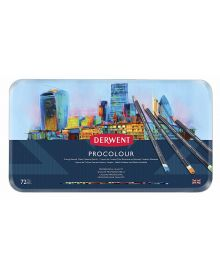 Derwent Procolour 72 Pencils Tin Set