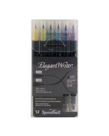 Elegant Writer Dual-Tipped Marker Set of 12 Colours