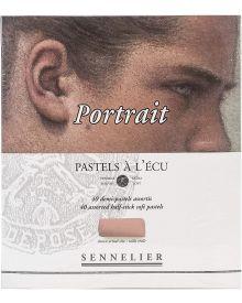 Sennelier Extra-Soft Pastel Half Stick, 40-Colour Portrait Set