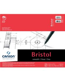 "Canson Bristol Smooth 100 lb (Fold Over) Pad, 14"" x 17"""
