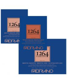 Fabriano 1264 Bristol Smooth 100lb (20-Sheet) Glue Bound Pad