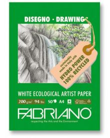 "Fabriano Drawing Pad 8"" x 12"" - 50 Sheets-94lb"