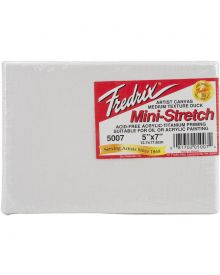 Fredrix Mini-Stretch Red Label Cotton Canvases - Standard 5 x 7-inch