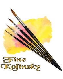 Dynasty Fine Kolinsky Watercolour Round Brushes