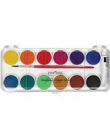 Finetec FW6012 Opaque Watercolour - 12 Colour Pan Set with Plastic Lid