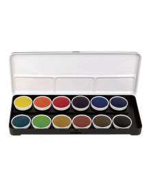 Finetec Watercolour Paint Transparent 12-Colour Set