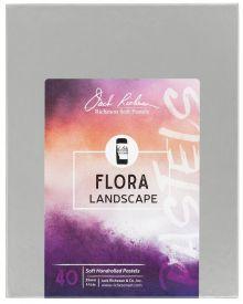 Richeson Hand Rolled Soft Pastel Flora Landscape, 40 Piece Set