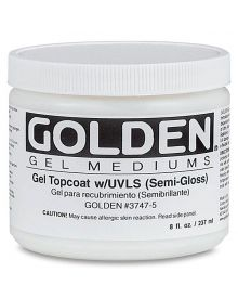 Golden gel Top Coat w/UVLS Semi-Gloss 8oz - 237ml
