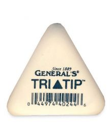 General's Tri-Tip Soft White Eraser
