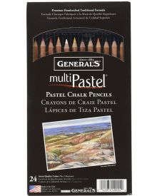 General's MultiPastel Chalk Pencils, 24 Assorted Colours
