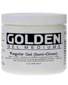 Golden Regular Gel Medium - Semi-Gloss 8oz - 237ml