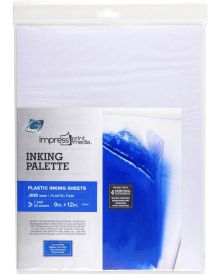 Grafix Impress Inking Palette Pad - 9'' x 12'', Pkg of 25 sheets