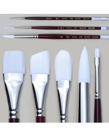H.J. White Taklon Short Handle Brushes