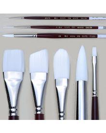 H.J. White Taklon Short Handle Brushes