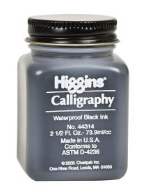 Higgins Calligraphy Ink - Black 2.5-oz