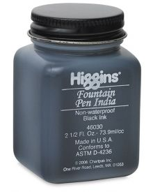 Higgins Fountain Pen Black India Ink 2.5-oz